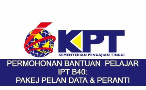 Bantuan Pakej Pelan Data & Peranti Pelajar IPT B40