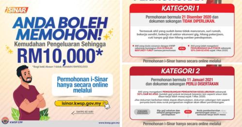 Semakan i-Sinar KWSP: Cara dan Syarat Permohonan Pengeluaran RM10,000 Akaun 1 KWSP