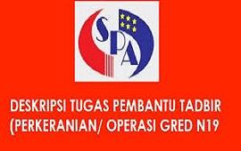 Senarai Tugas Pembantu Tadbir (Perkeranian/Operasi) Gred N19